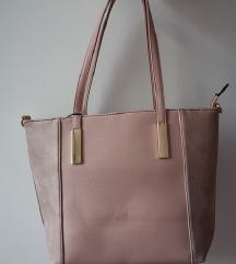 Prostorna roza torbica