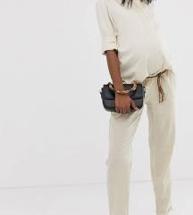 Mamalicious bež dolge hlače