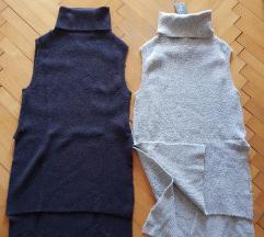 2x daljši pulover/brezrokavnik