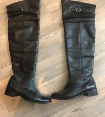overknee škornji usnjeni 38