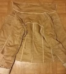 Usnjena Krznena jakna 36-38 velikost