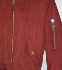 ZNIŽANO Bordo rdeča bomber jakna