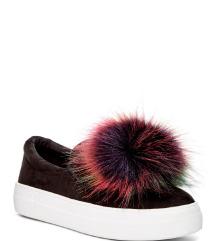 Steve Madden Great Faux Fur Pom Platform Sneaker