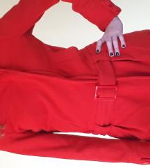 Rdeča zimska jakna h&m, 34 (36)