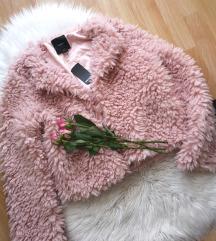 Pink faux fur jakna (mpc:42€)