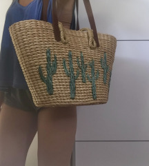 Poletna pletena torba za na plažo. NOVA!