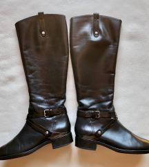 GEOX črni usnjeni škornji