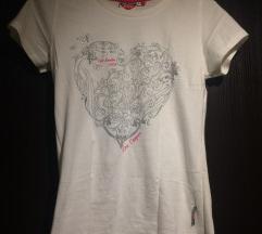 Bela kratka majica t-shirt Lee Cooper