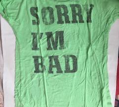 Neon kratka majica z napisom