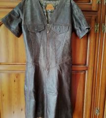 Vintage obleka pravo usnje