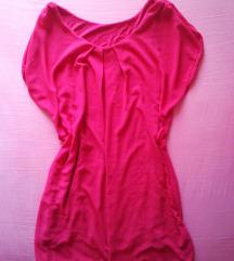 rdeča obleka s podlogo