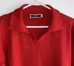 RAZPRODAJA uni živo rdeč pulover