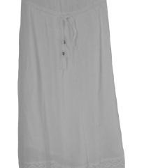 Accessorize bela maxi obleka