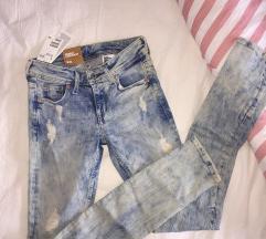 H&M jeans skinny low waist 26/32