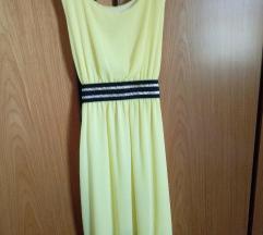 rumena oblekica v grškem stilu