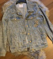ZARA jeans jakna z bleščicami (MPC:90 eur)