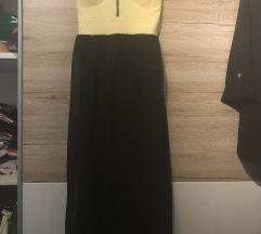 Dolga rumena poletna obleka