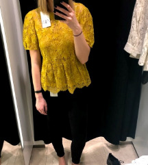 NOVA Zara oker peplum bluza