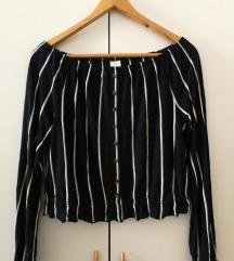 Majica off-shoulder vel. L H&M (ptt v ceni)