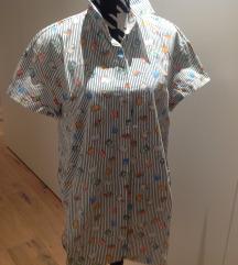 Dolga oversize barvita srajca/bluza