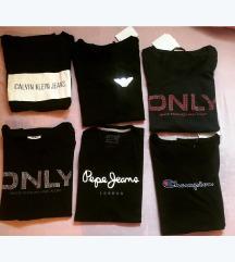 Kratke majice raznih znamk