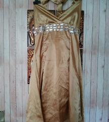 Obleka zlata mini