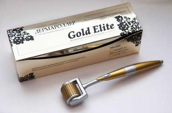 Dermaroller Gold Elite odpravlja nepravilnosti