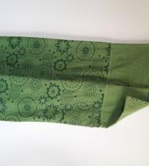 Fisher(man) pants - široke zelene hlače UNI