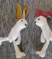Šivam zajčke igračke dekor 46-62cm