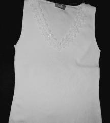 Bela majica z kristalčki,vel.38