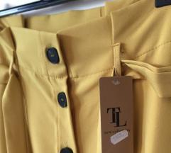 Mustard midi skirt -  krilo gorčična barva