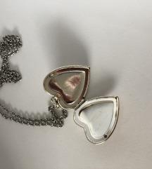 Vintage verižica srček locket