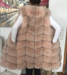 Krznen brezrokavnik polarna lisica