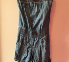 Jeans pajac kombinezon 34