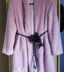 Teddy coat roza mehki plašček xl..nenošen
