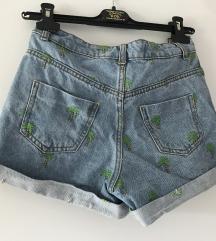 jeans embroidered kratke hlace