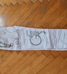 Bele elastične hlače nove, vel. M/L