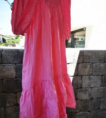 H&M dolga roza obleka