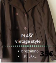 PLAŠČ ■L+XL ■kvaliteten ■topel ■vintage style