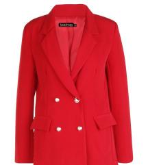 Rdeč suknjič z zlatimi gumbi (kupljen za 40€)