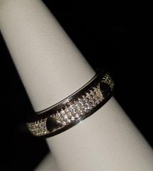 Srebrni prstan-srčki(pravo srebro 925)vel. 58
