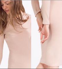 Zara nude midi obleka