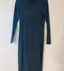 Dolga siva obleka