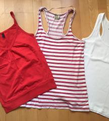 Rdeči komplet majic na naramnice