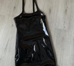 Črna latex obleka