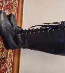 Črni usnjeni škornji št. 39 Marc O'Polo