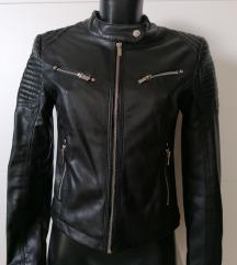 Usnjena jakna črna S