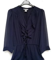 ZNIŽ.Nova ruffle H&M obleka