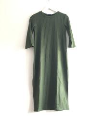 Midi olivna obleka Zara