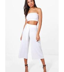 Boohoo elegantne bele hlače